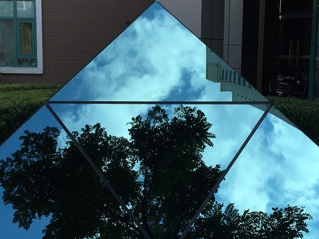 sky-no-person-reflection-architecture-building picture material