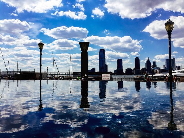 water-reflection-sunset-sky-pier 图片素材