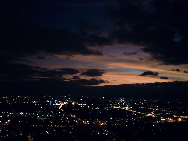 no-person-sunset-moon-evening-sky 图片素材
