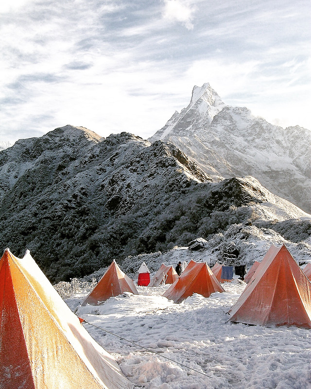 tent-snow-mountain-no-person-winter 图片素材