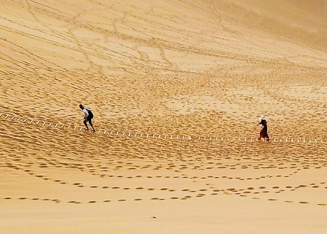sand-beach-desert-travel-boy picture material