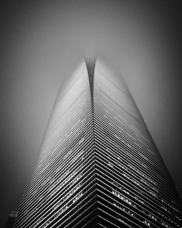 monochrome-black-white-abstract-city-modern picture material