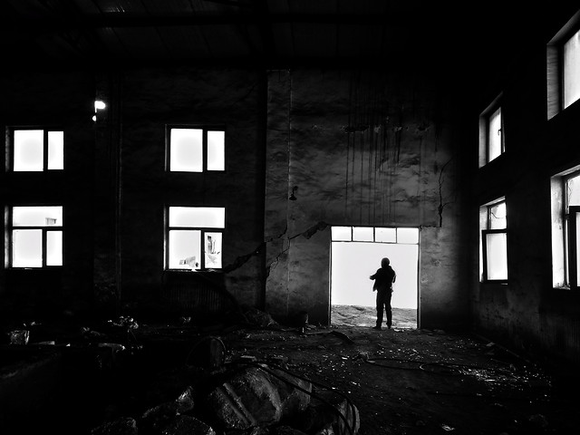 monochrome-abandoned-black-and-white-decay-people picture material