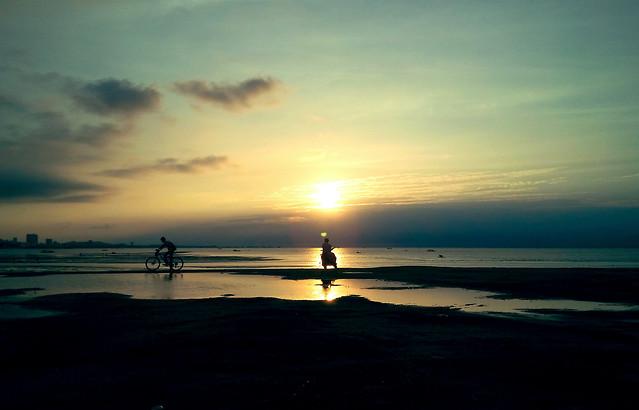 sunset-water-dawn-beach-sun picture material