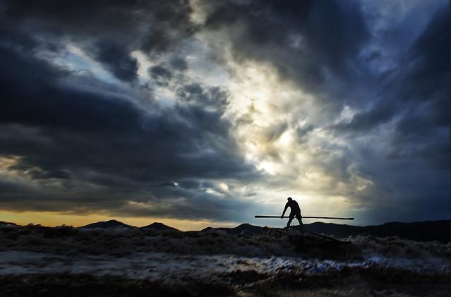 sunset-sky-storm-no-person-landscape picture material