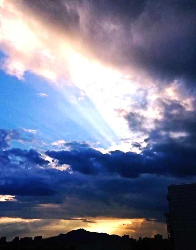 sky-sunset-sun-nature-landscape picture material