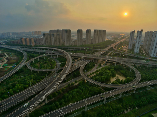 traffic-highway-road-transportation-system-expressway picture material