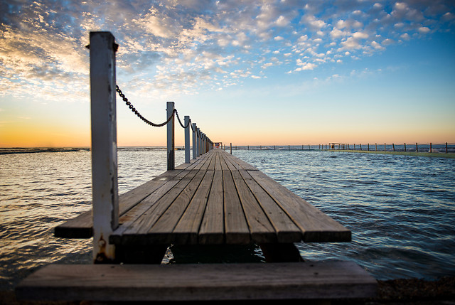 water-pier-sea-sunset-ocean picture material