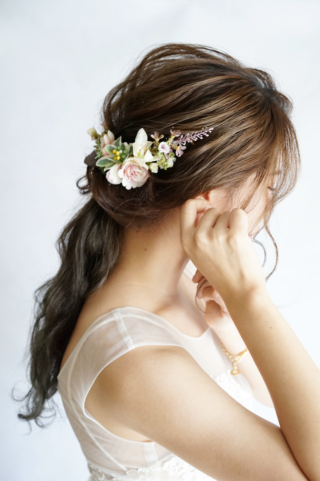woman-fashion-glamour-girl-flower picture material