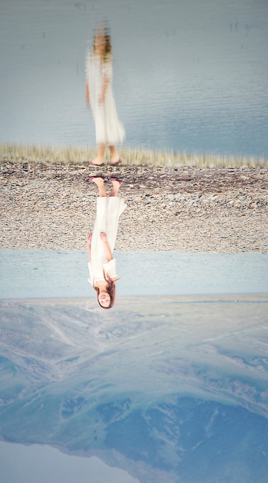 water-people-outdoors-one-reflection picture material