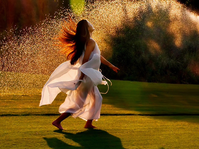 nature-motion-yellow-people-woman picture material