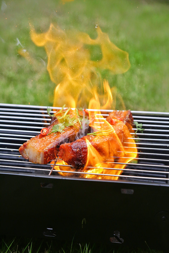 barbecue-meat-food-flame-meal 图片素材
