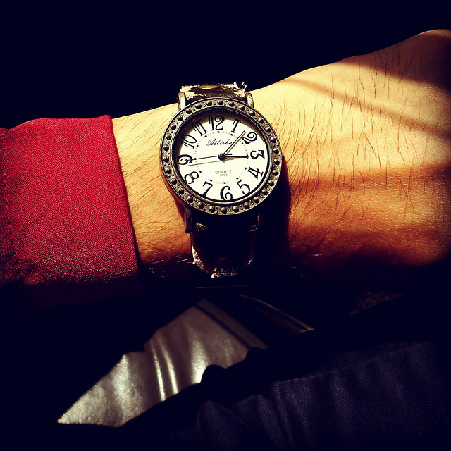 time-clock-flag-watch-no-person picture material