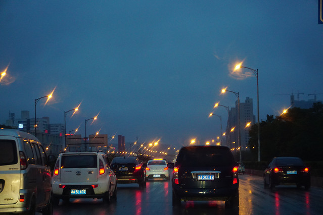 street-road-traffic-sunset-car 图片素材