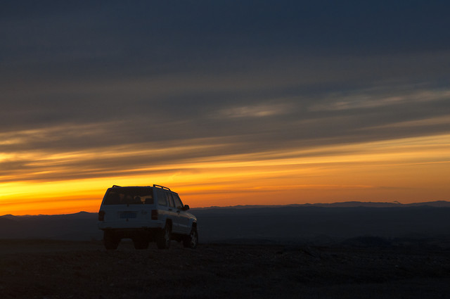 sunset-no-person-sky-evening-vehicle picture material