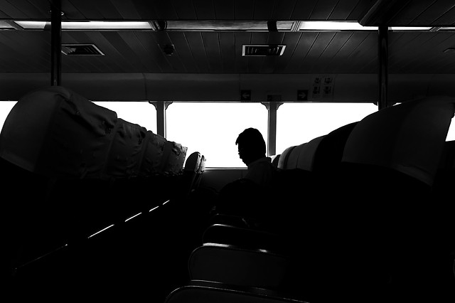 people-vehicle-transportation-system-monochrome-airplane picture material