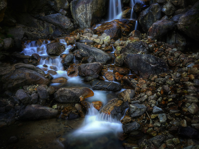 water-waterfall-river-rock-stream picture material