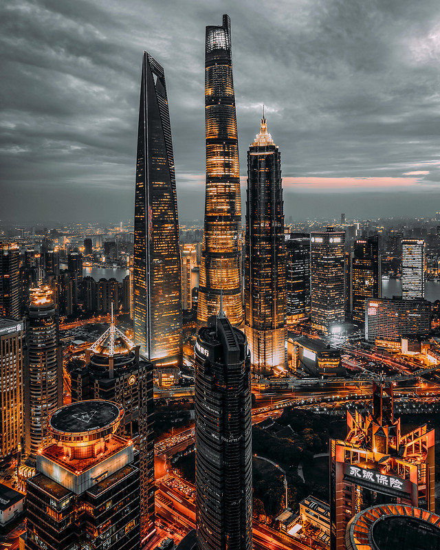 city-architecture-sunset-skyline-cityscape picture material