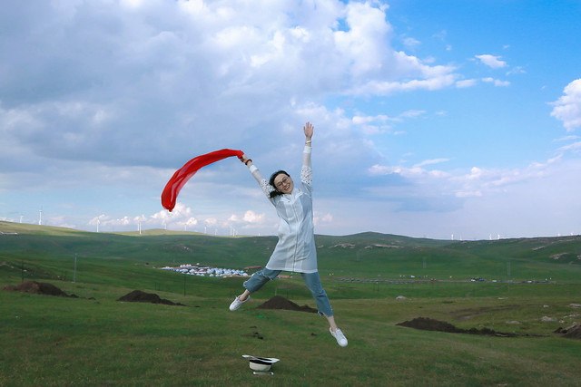 air-sports-sky-cloud-paragliding-grassland picture material