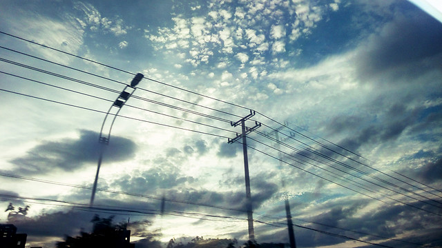 wire-sky-electricity-voltage-power picture material