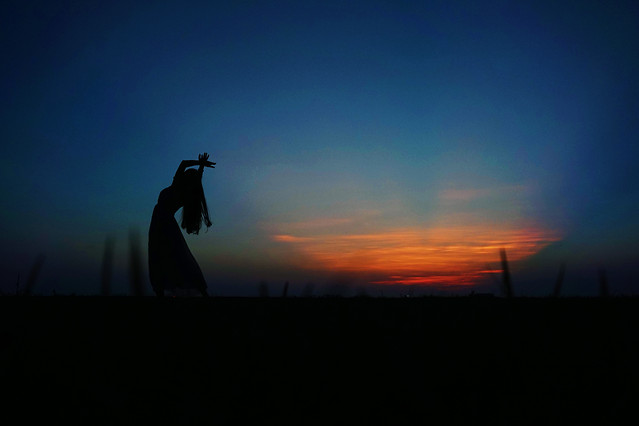 sunset-silhouette-dawn-backlit-dusk picture material