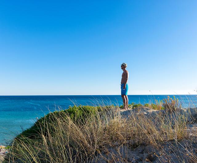 sea-blue-sky-coast-horizon picture material
