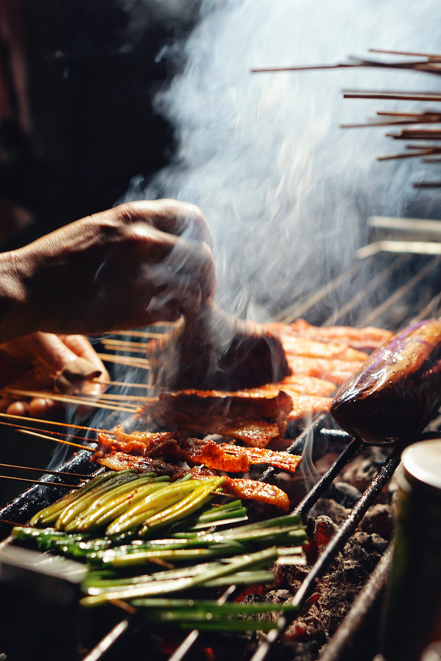 flame-smoke-heat-barbecue-food 图片素材