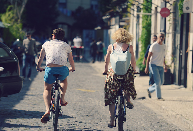 people-land-vehicle-street-road-bicycle picture material