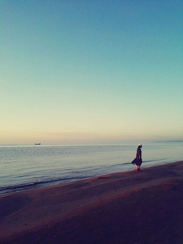 beach-water-sunset-sea-ocean 图片素材