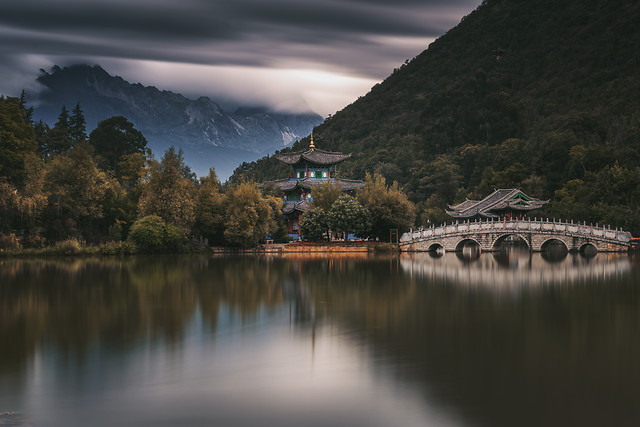 lake-reflection-water-landscape-dawn 图片素材