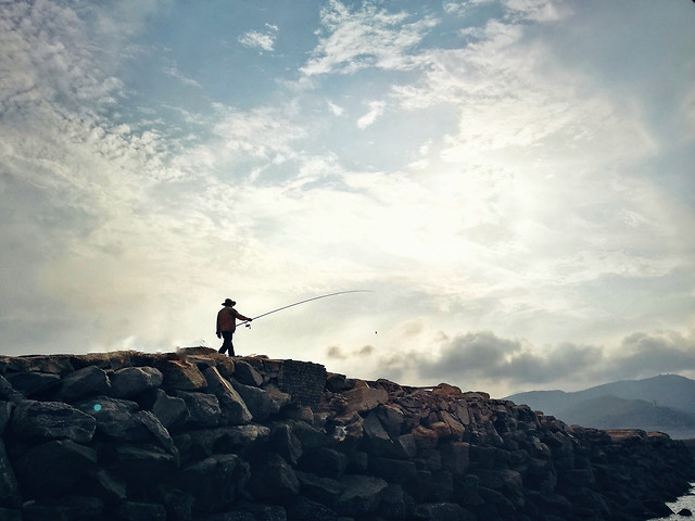 landscape-sky-mountain-people-climber picture material