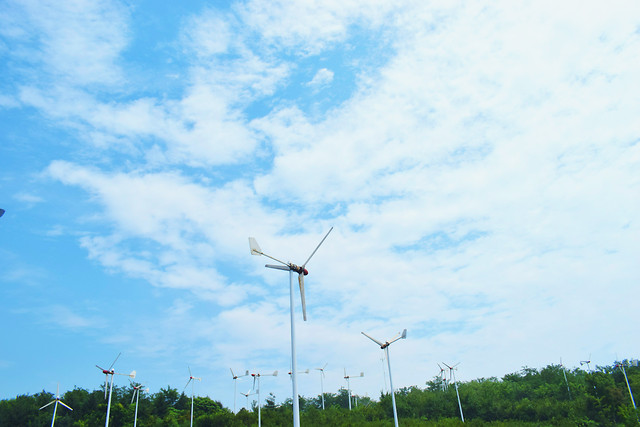wind-windmill-electricity-sky-wind-farm picture material