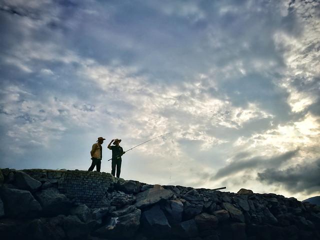 landscape-climb-sky-hike-climber picture material