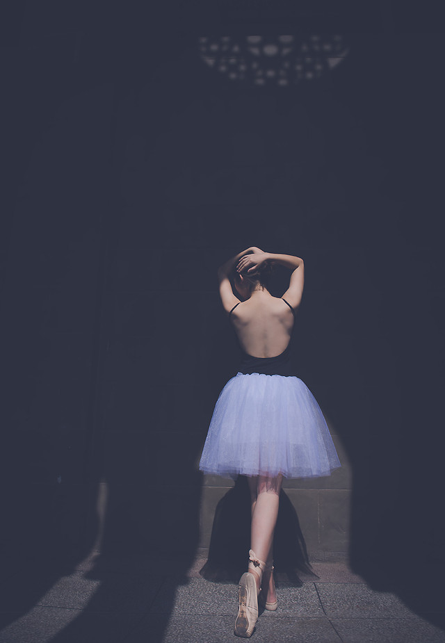 woman-fashion-blue-ballet-one picture material
