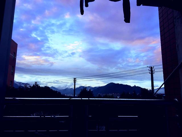 sky-sunset-silhouette-dawn-evening 图片素材