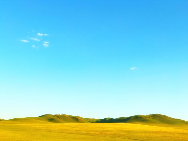 landscape-sky-nature-grassland-field picture material