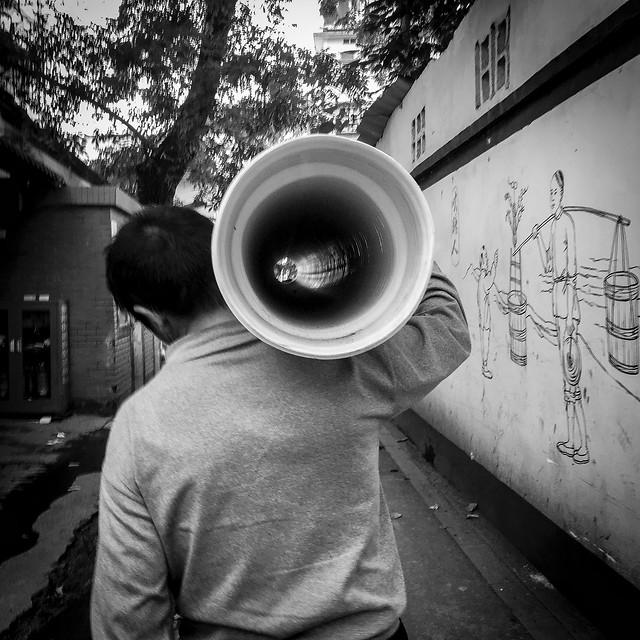 loud-speaker-megaphone-people-sound picture material