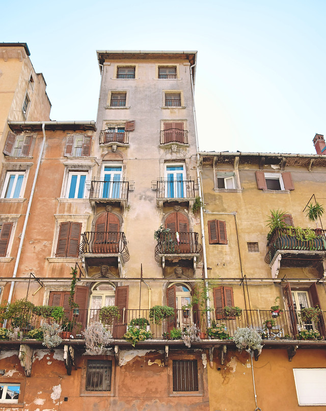 town-building-facade-balcony-window picture material