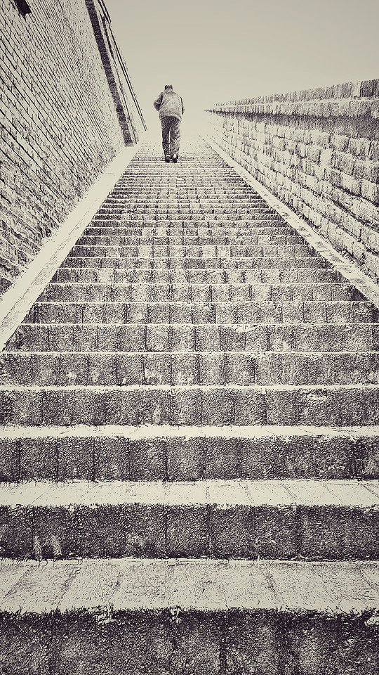 step-stone-people-architecture-wall picture material