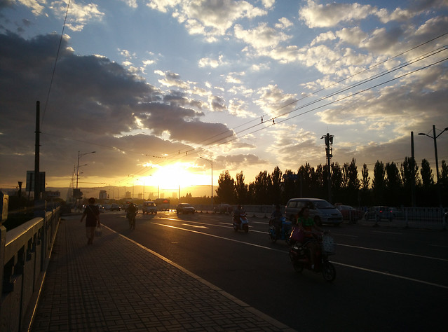sunset-road-sky-street-transportation-system 图片素材