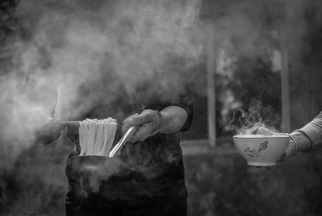 smoke-flame-people-one-monochrome picture material