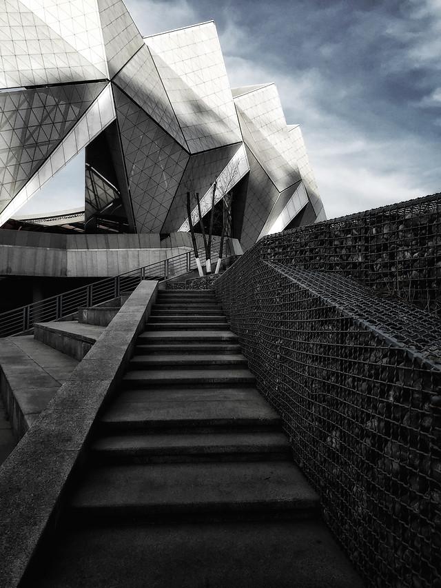monochrome-architecture-step-city-black picture material