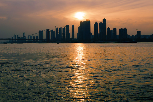 sunset-water-skyline-dawn-evening picture material