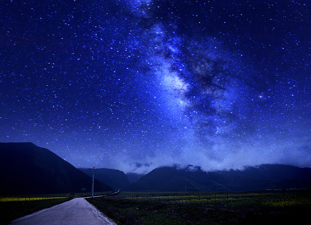 moon-sky-dark-galaxy-astronomy picture material