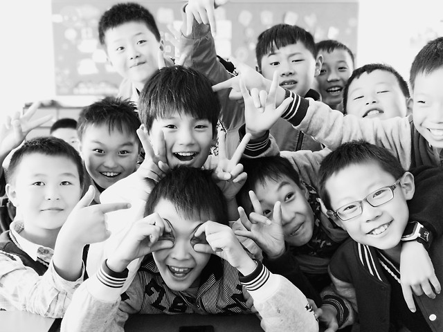child-group-group-together-son-people picture material