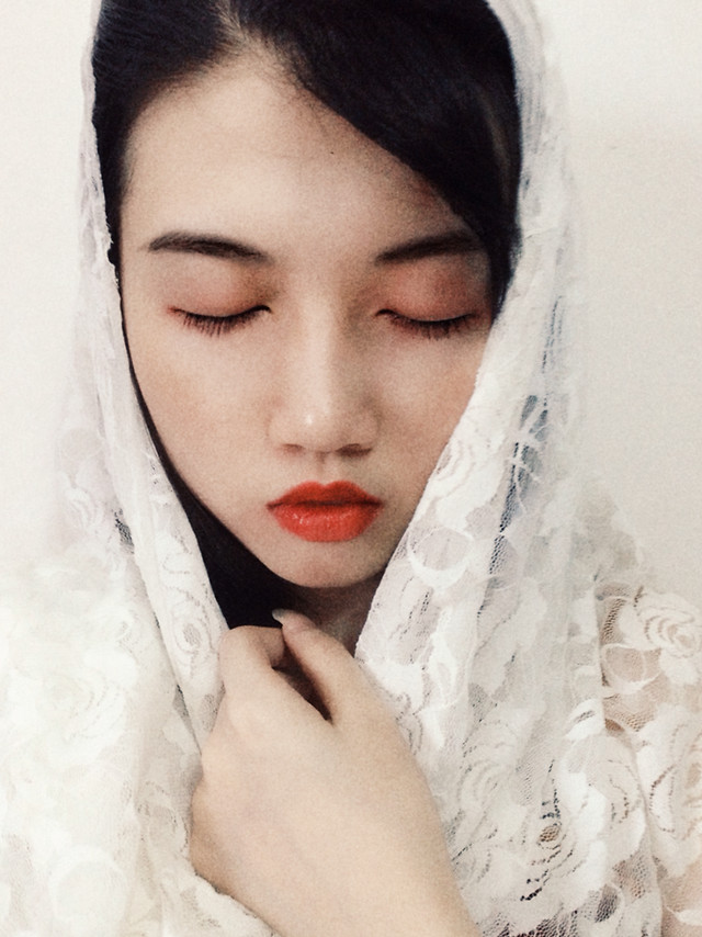 skin-girl-veil-model-woman picture material