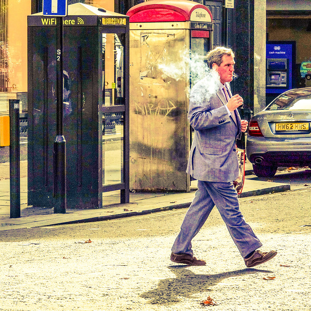 street-people-city-man-telephone picture material