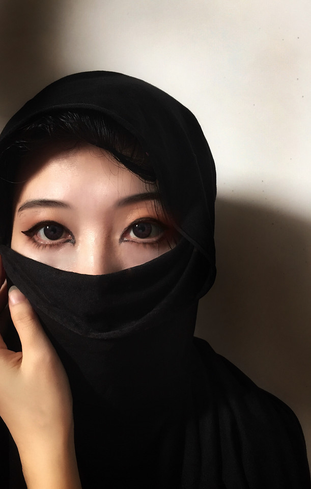 face-eye-girl-portrait-mask picture material