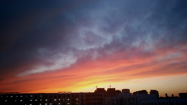sunset-sky-no-person-dusk-evening picture material