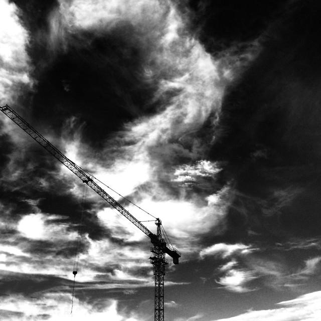 sky-cloud-monochrome-storm-black-white picture material
